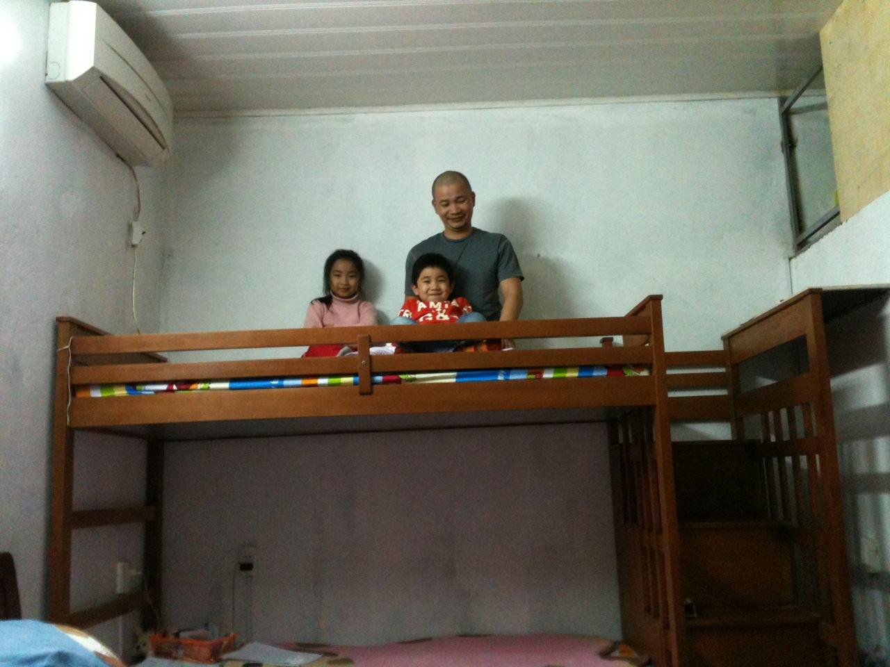 Giường 2 tầng cho bé Lina Tuệ Minh & Kỳ Minh nhà bố Hoài Nam_ Long Biên_ Hà Nội - Nội thất AnTamKids, giuong tre em, giuong 2 tang tre em