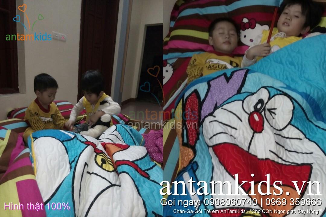 Chăn ga gối Hello Kitty, Doremon cho be antamkidsvn