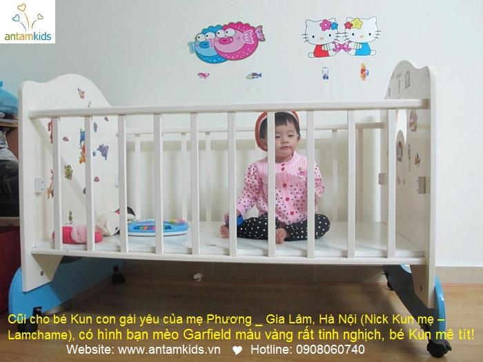 Giường cũi cho bé Kun con gái yêu của mẹ Phương _ Gia Lâm, Hà Nội (Nick Kun mẹ – Lamchame).