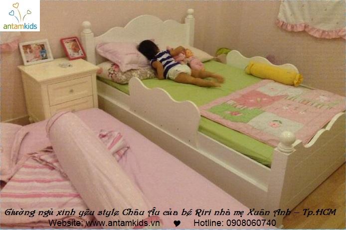 Giường ngủ đẹp cho bé Riri – con gái yêu của Mẹ Xuân Anh_Phú Mỹ Hưng, Tp. Hồ Chí Minh