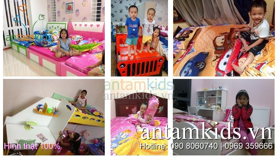 Nội thất phòng ngủ, giường tầng- Chăn ga gối đệm cao cấp cho bé trai bé gái