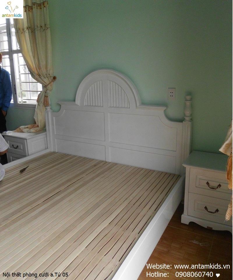 Nội thất phòng cưới a. Tú_Tuyên Quang trắng đẹp rạng ngời - Nội thất AnTamKids, giường ngủ đẹp