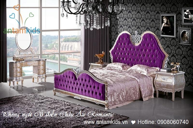Lãng mạn & tinh tế, cao cấp & sang trọng, thanh lịch đầy quyến rũ đam mê là dòng sản phẩm nội thất phòng ngủ cổ điển phong cách châu Âu nhập ngoại của AnTamKids. Nào, mời bạn cùng ngắm, thưởng thức những nét đẹp mê mẩn thổn thức lòng người .............Bạn có muốn sở hữu 1 căn phòng xinh thật là xinh như thế này koPhòng ngủ cổ điển Châu Âu cao cấp - Paris Style Romantic ?