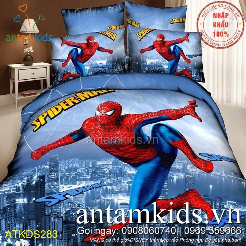 Chăn ga gối cho bé trai mê Người nhện Spider-Man siêu nhân siêu anh hùng