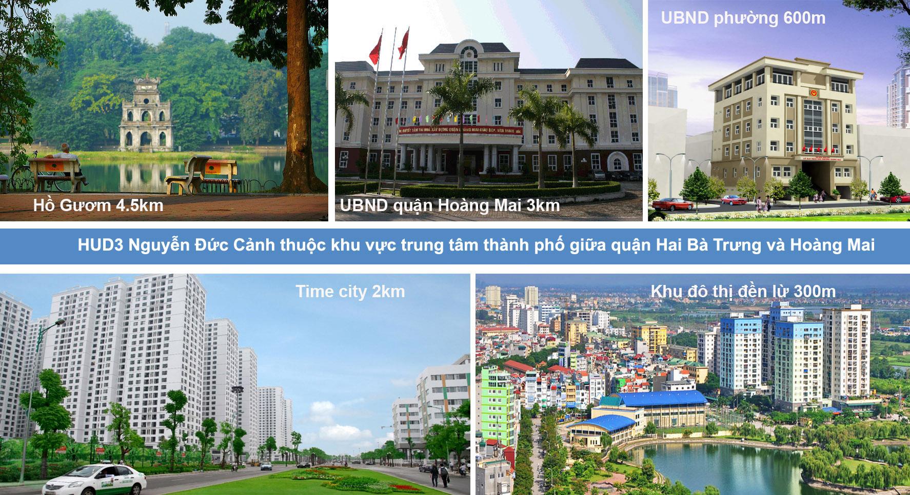 Thăm quan dự án Chung cư Hud3 Nguyễn Đức Cảnh, B1B2 Tây Nam Linh Đàm