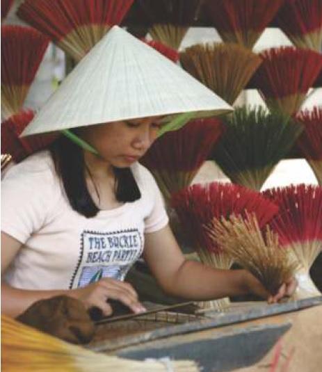 Sản xuất hương trầm tại Hà Nội