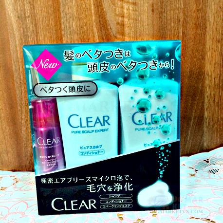 Kết quả hình ảnh cho Bộ dầu gội Clear của Nhật