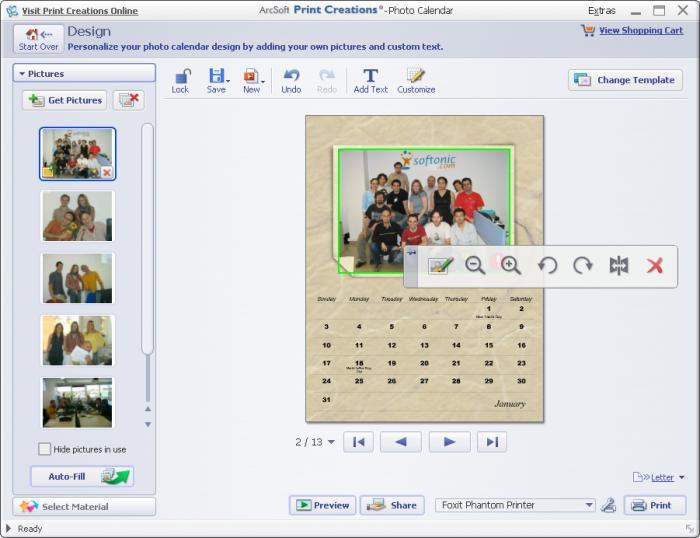 Phần mềm thiết kế poster Arcsoft Print Creations