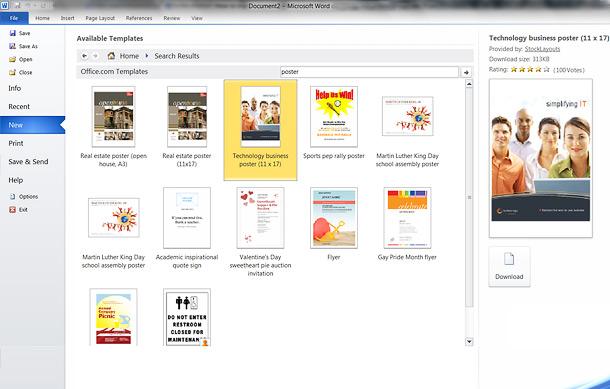 Microsoft Word– phần mềm thiết kế poster đơn giản cho dân văn phòng