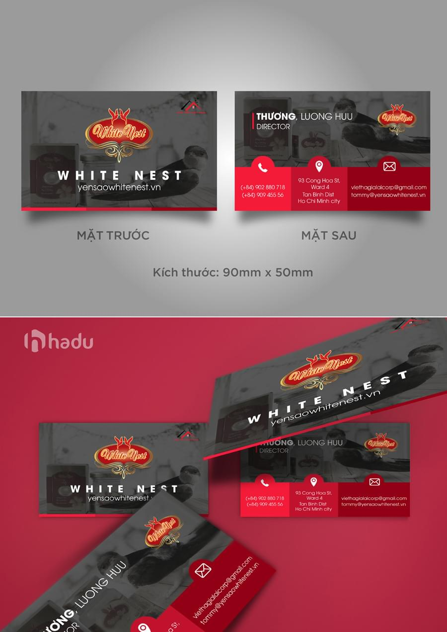 Thiết kế name card White nest mẫu 2