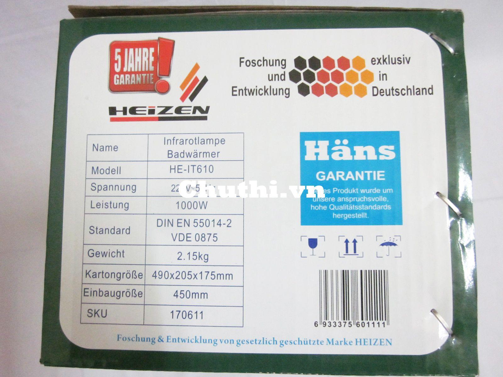 Heizen là dòng sản phẩm cao cấp cửa Hans