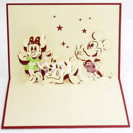 Walt Disney 3d Cardpopup Cardlove And Wedding Card