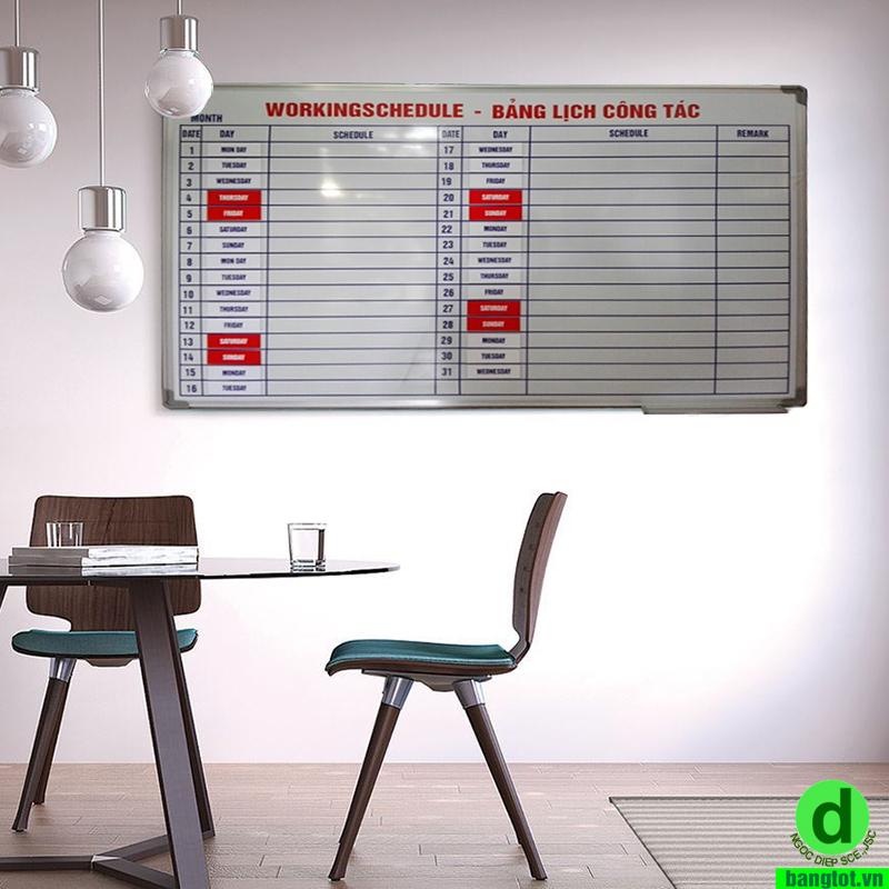 bảng lịch làm việc