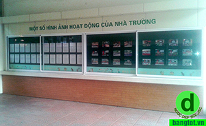 bảng thông tin trong nhà trà vinh