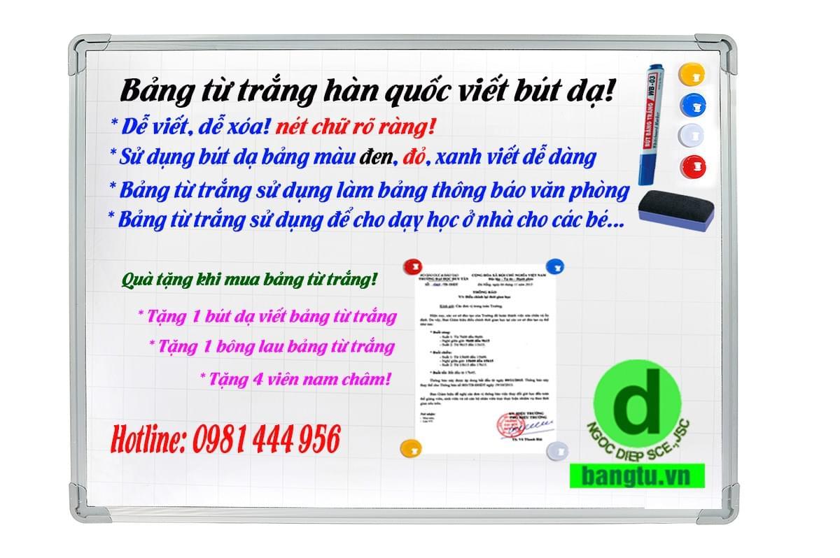 Bán bảng từ trắng tại Hà Nội
