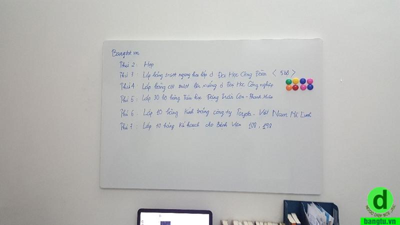 bảng từ trắng không khung