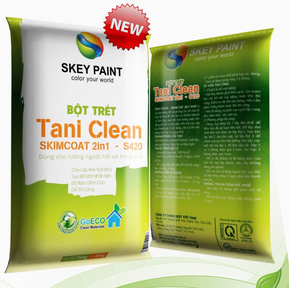 BỘT TRÉT TANI CLEAN SKIMCOAT 2in1 - S420
