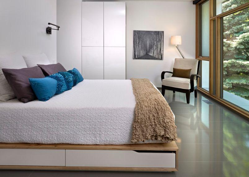 giường đệm vừa vặn dành cho căn phòng hẹp