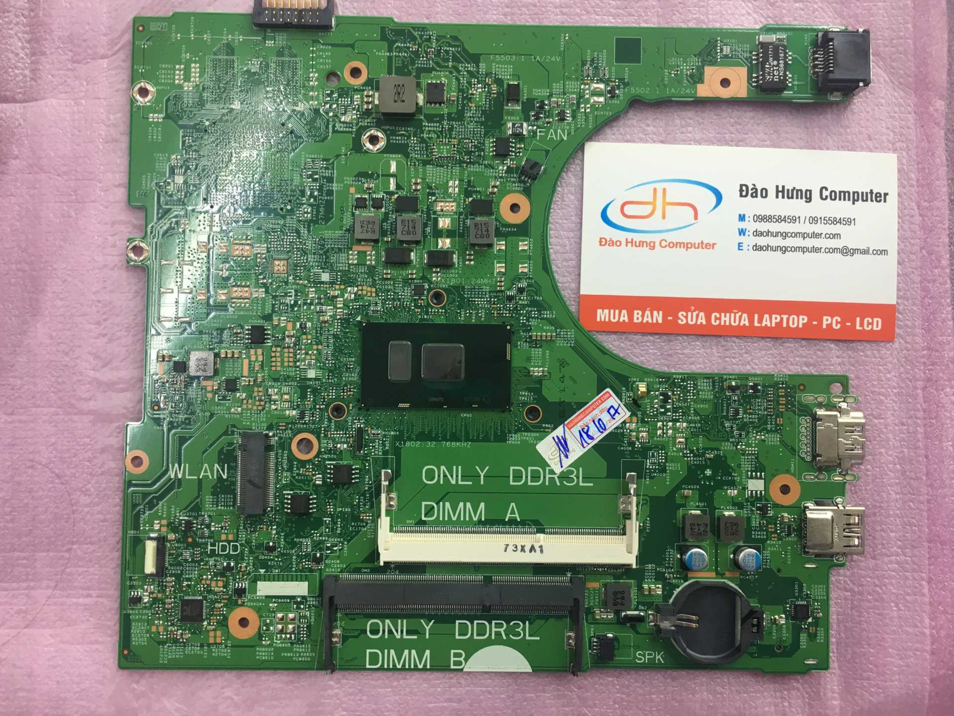 Mainboard Laptop Dell Inspiron 3559 Intel Core i3 - 6100U  Share