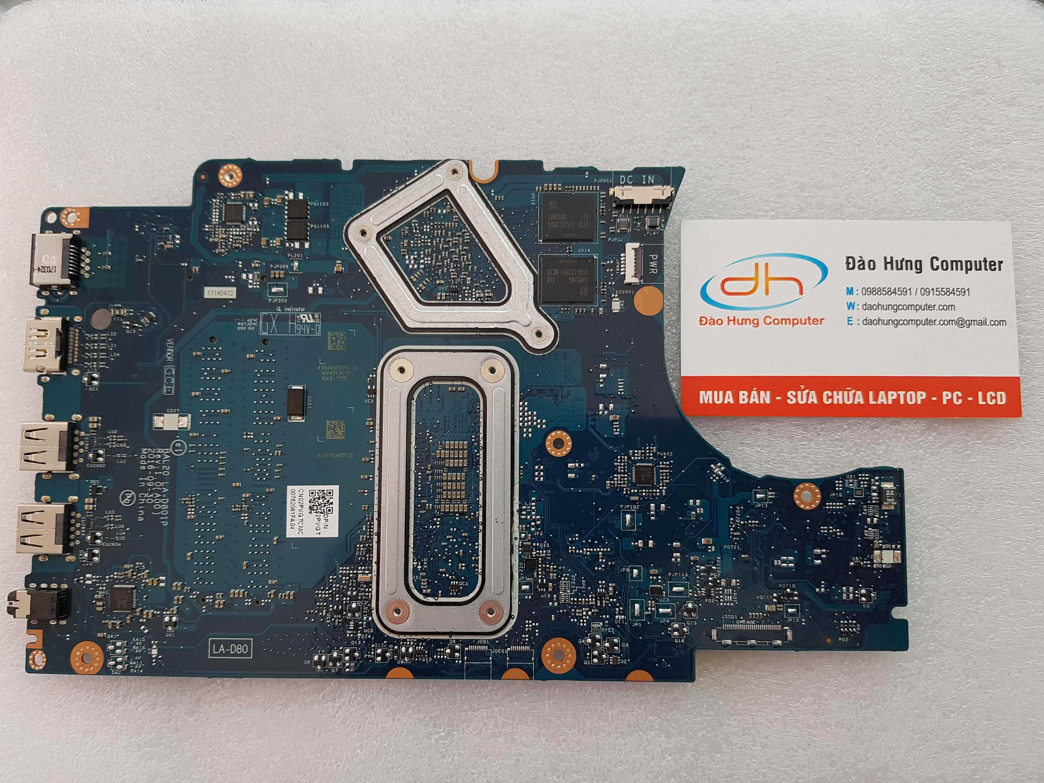 Main Dell Inspiron 5567 Core i5 7200 VGA New LA-D801P