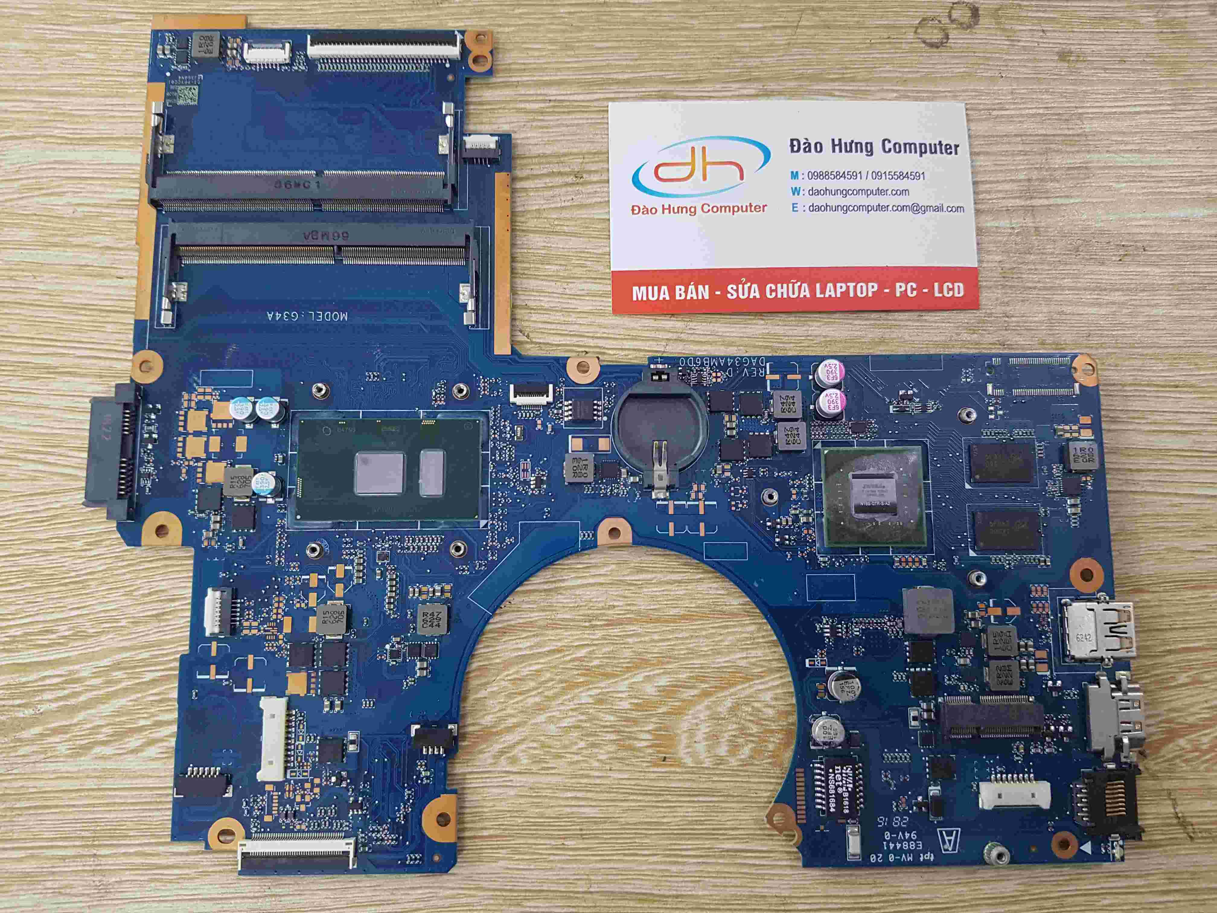 MainBoard Hp 15Au Core i7 6500U VGA NVIDIA GeForce 940MX