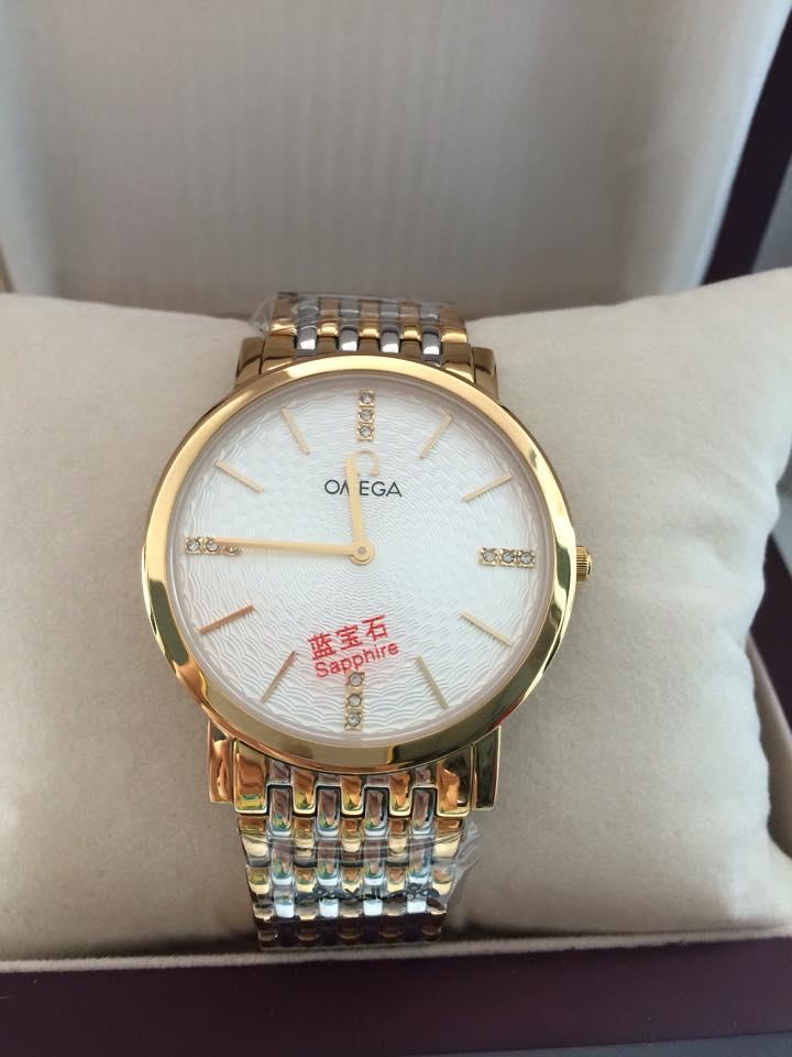Kết quả hình ảnh cho đồng hồ omega dây kim loại