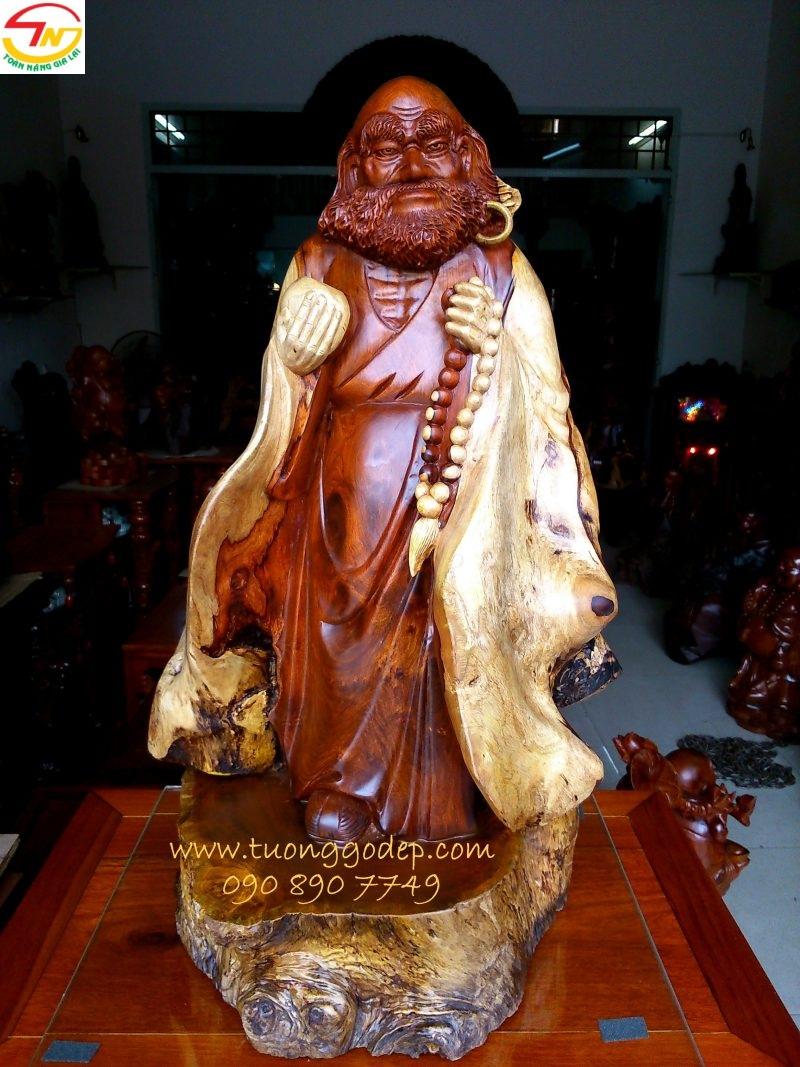 tượng gỗ đạt ma
