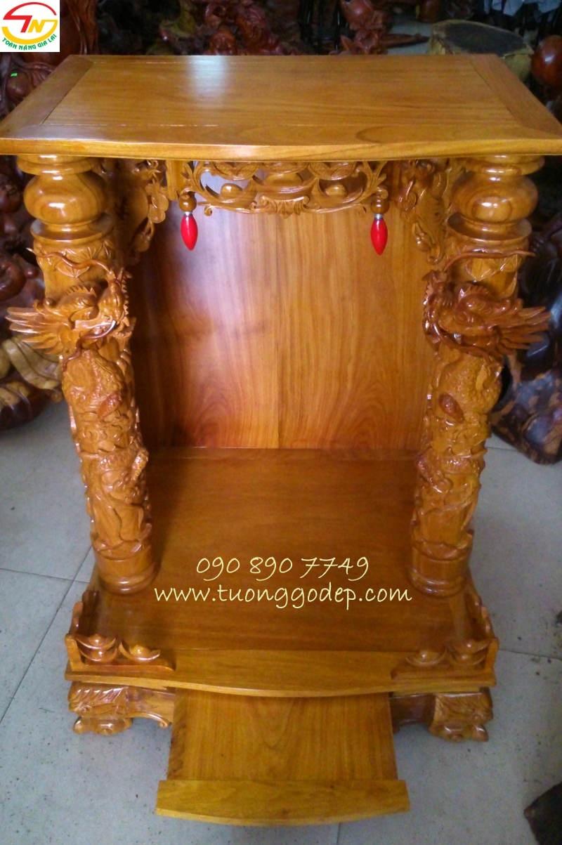 Bàn thờ Thần Tài Ông Địa bằng gỗ gõ đỏ
