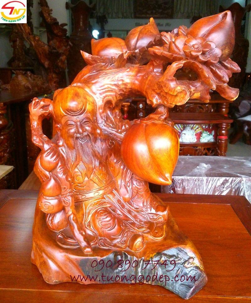 Tượng gỗ hương Ông Thọ