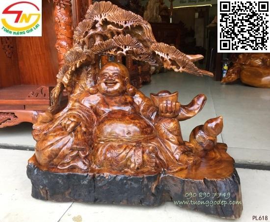 Phật Di Lặc nu gỗ xá xị,