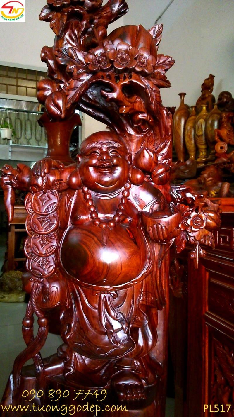 Tượng Phật Di Lặc gỗ cẩm