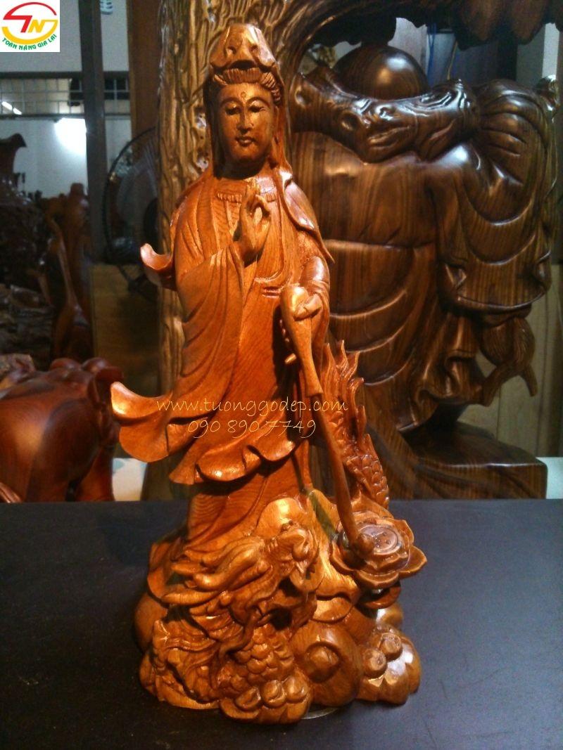 Tượng Phật để xe ô tô, để trên bàn