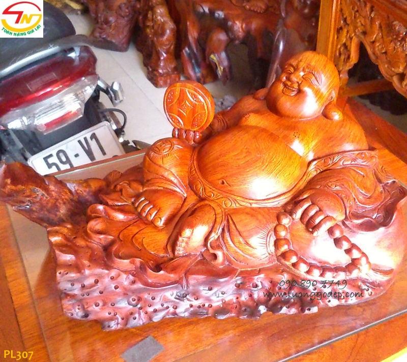 Tượng Phật Di Lặc chiêu Tài, gỗ hương