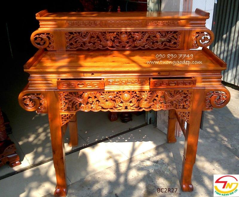 bàn thờ gỗ tự nhiên