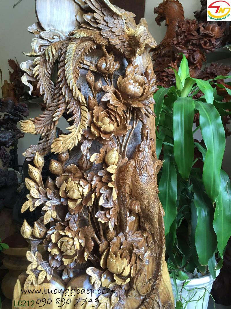 Chim Phượng Hoàng bằng gỗ