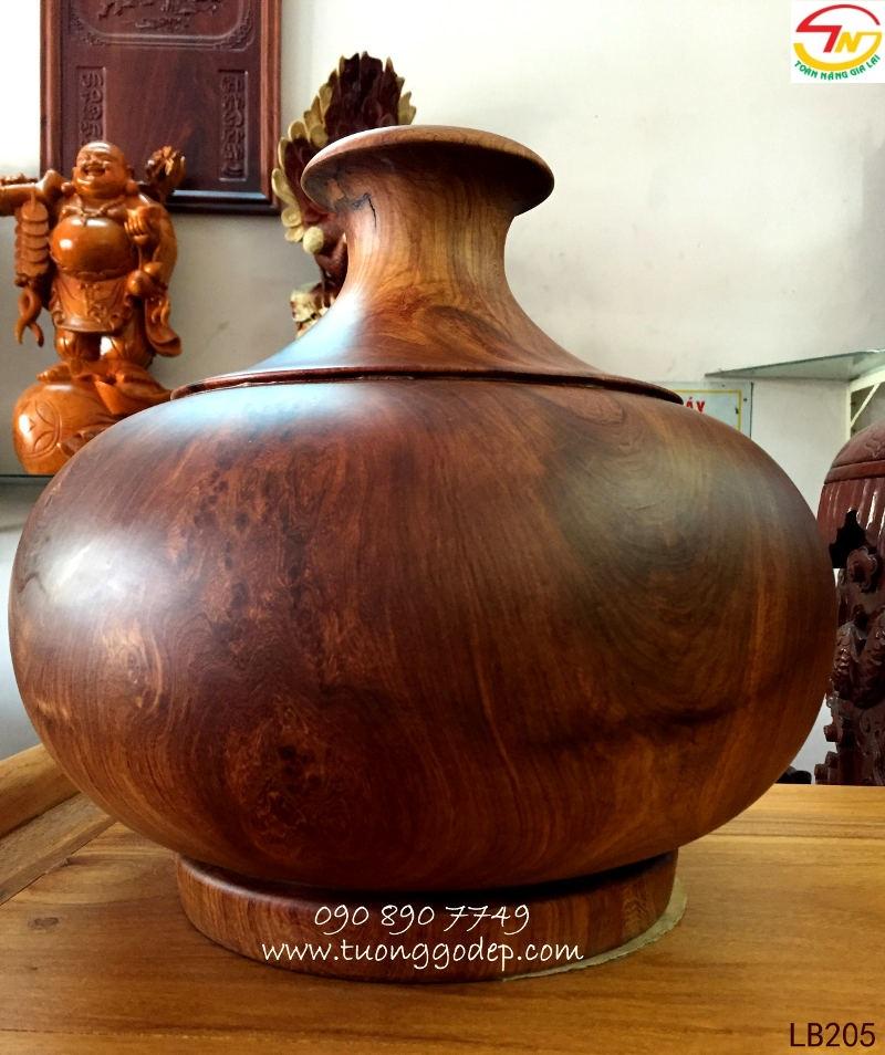 Bình phú quý gỗ nu hương