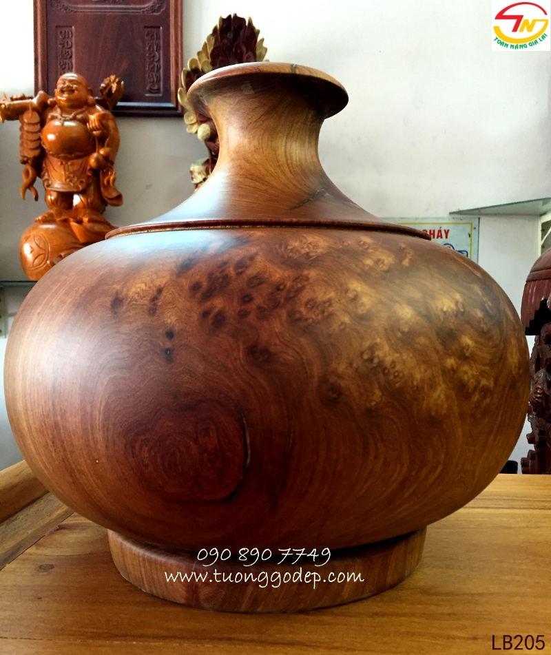 độc bình gỗ nu hương