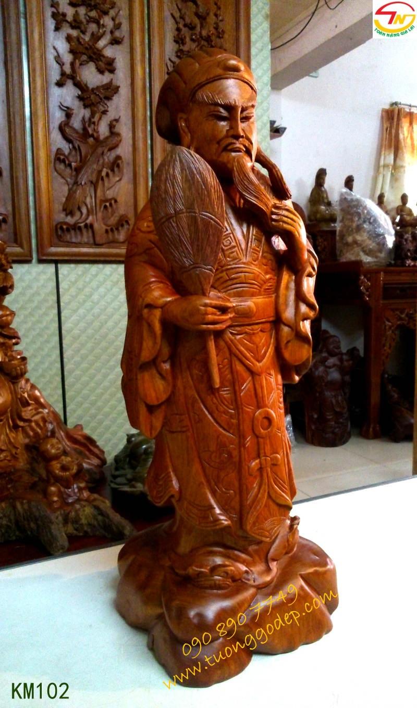 Tượng gỗ Khổng Minh