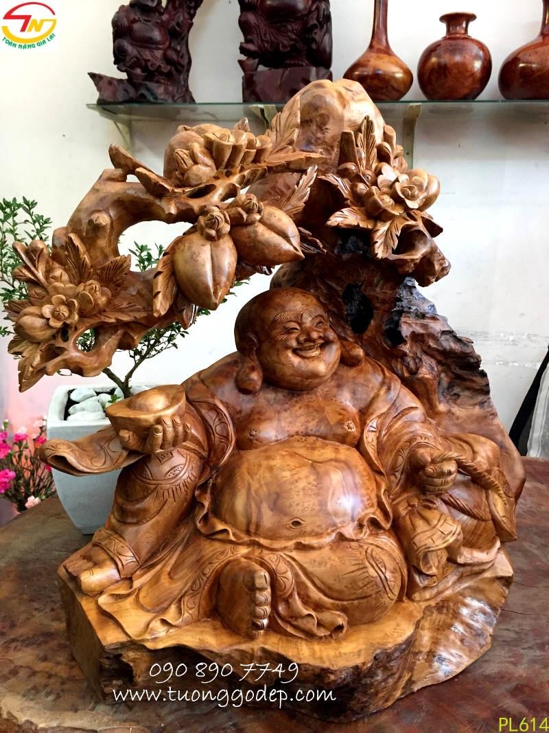 Phật Di Lặc gỗ nu xá xị