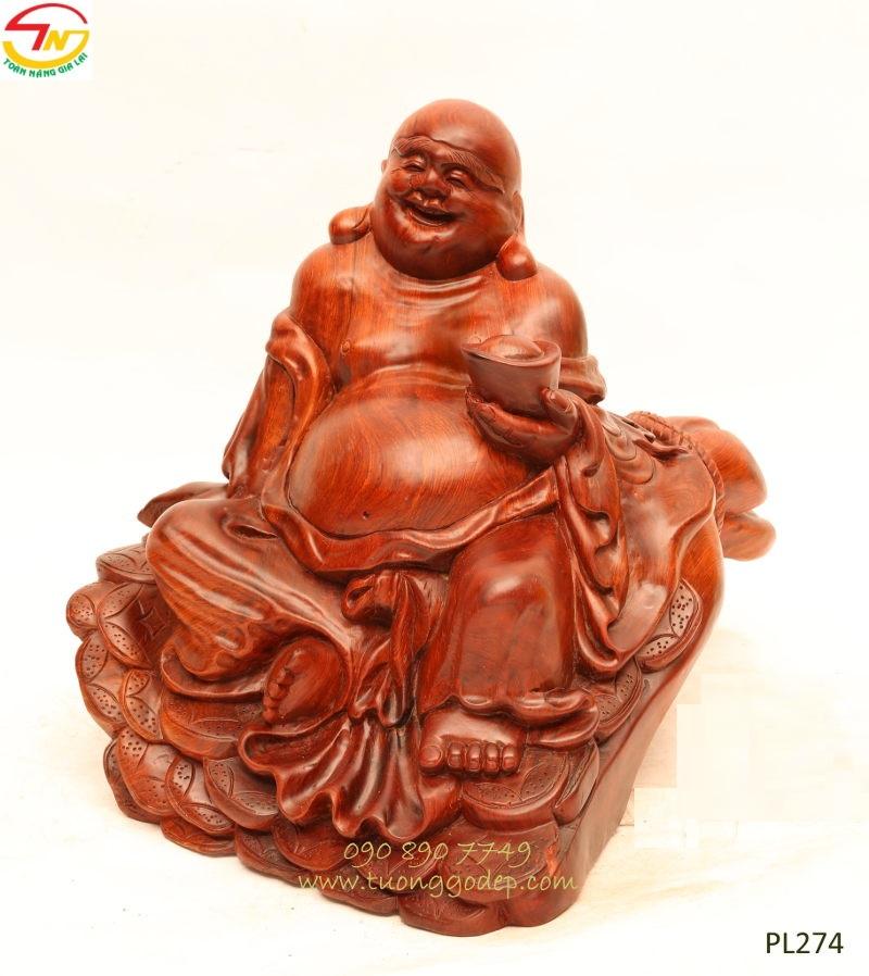 Tượng Phật Di Lặc ngồi bao tiền