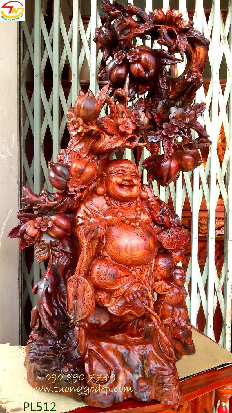 Phật Di Lặc gỗ cẩm