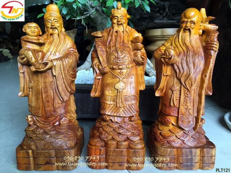 Tượng gỗ phúc lộ thọ