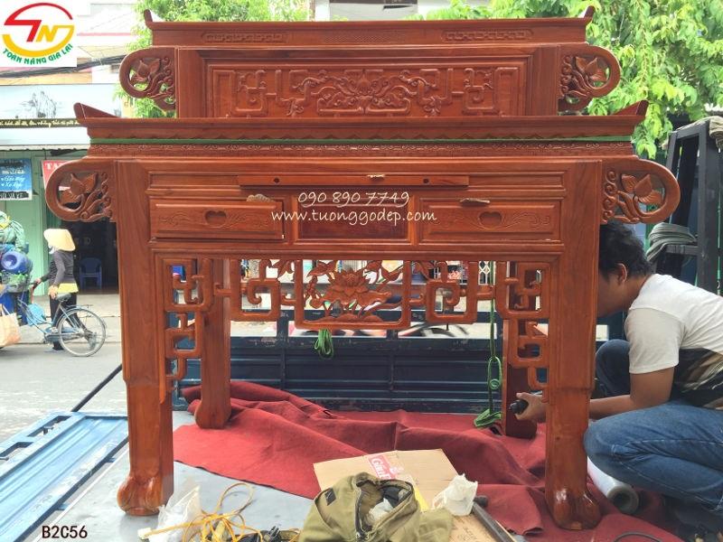 Bàn thờ Phật và Gia tiên kiểu hiện đại