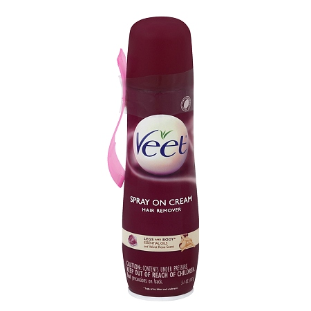 Xịt Tẩy Lông Veet Spray Cream, Hair Remover Legs and Body Essential Oils & Velvet Rose Scent