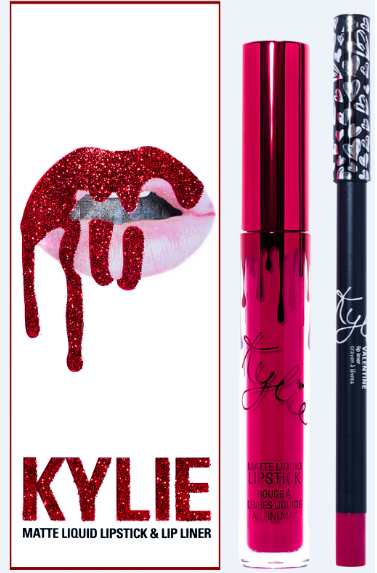 Set Son kem Kylie Valentine | Lip Kit