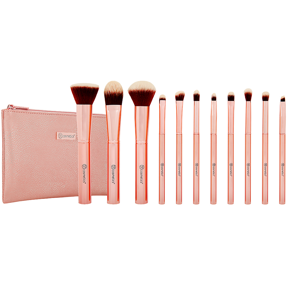 Bộ cọ BH Cosmetic Metal Rose – 11 Piece Brush Set With Cosmetic Bag