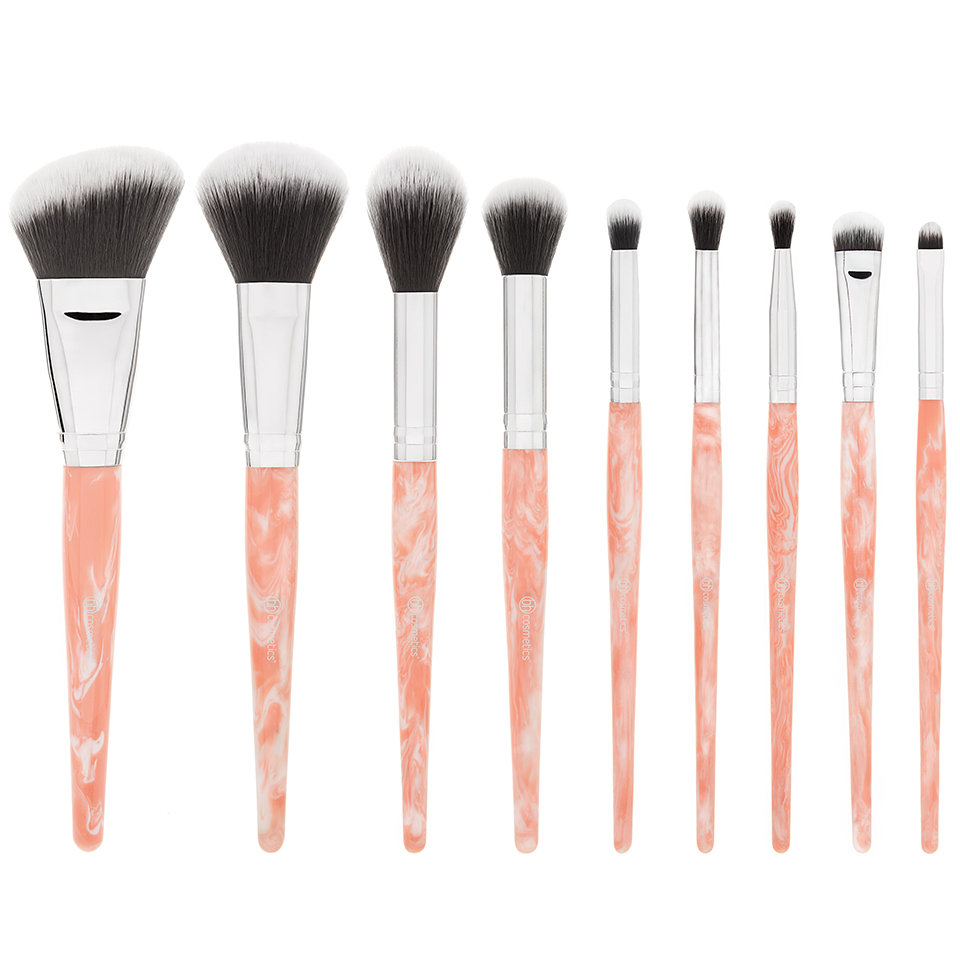 Bộ cọ BH Cosmetic Rose Quartz – 9 Piece Brush Set