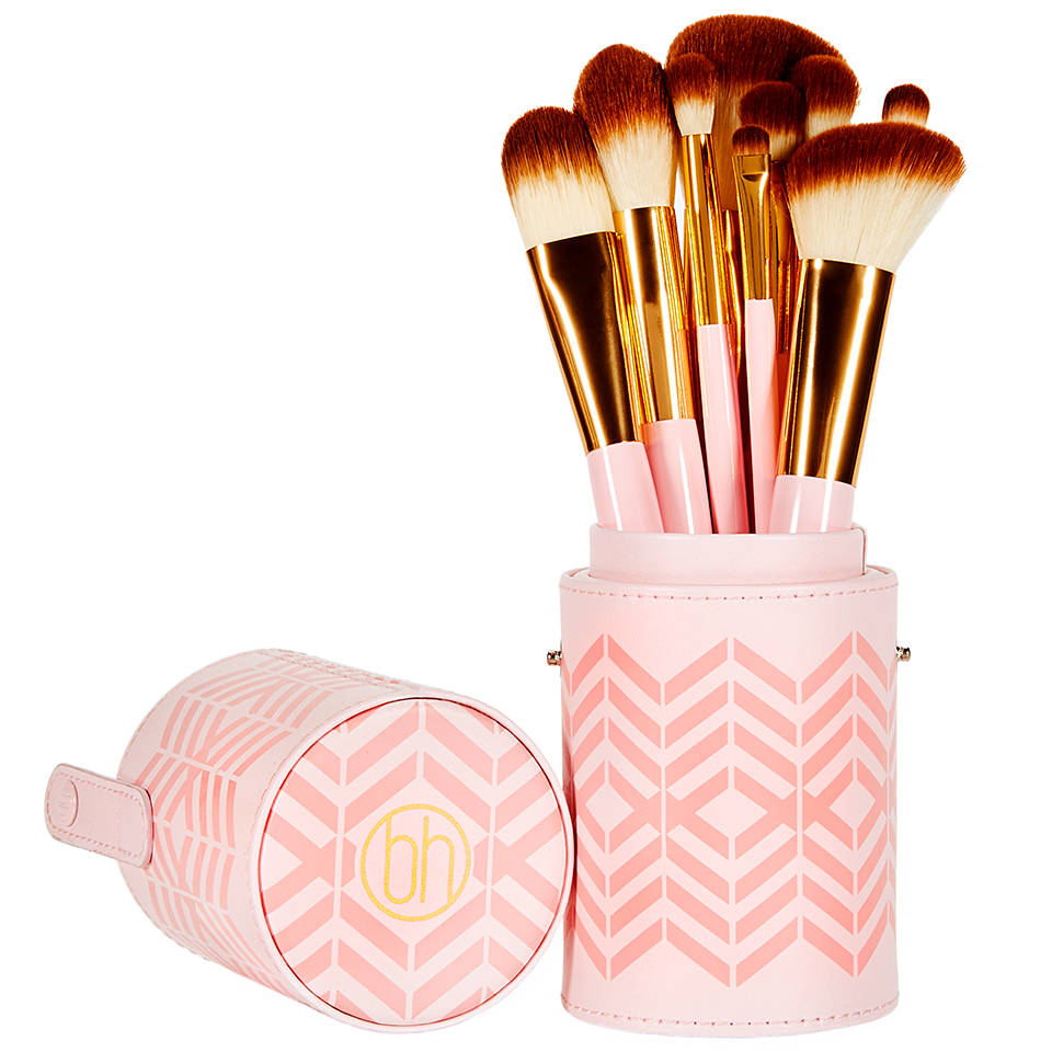 Bộ cọ 10 cây BH Cosmetic Pink Perfection - 10 Piece Brush Set