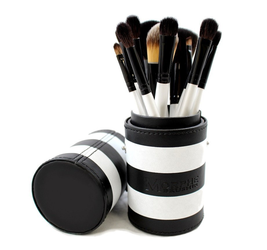 Bộ cọ Morphe SET 706 - 12 PIECE BLACK AND WHITE TRAVEL SET