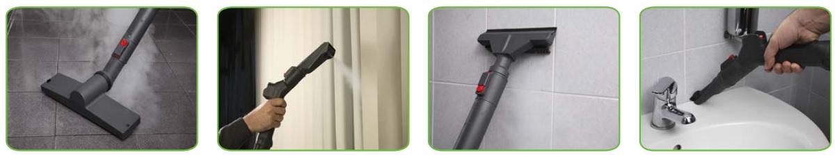 Ứng dụng máy hơi nước nóng SG 30 P